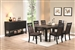 Arlington 5 Piece Dining Set in Wire Brushed Cocoa / Antique Black Finish by Coaster - 104891
