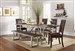 Genoa 5 Piece Dining Set in Wire Brushed Cocoa / Metal Two Tone Finish by Coaster - 104911-5