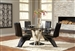 Barzini 5 Piece Dining Set in Stainless Steel Finish by Coaster 105061