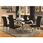 Carone 5 Piece Dining Set in Stainless Steel Finish by Coaster 105071