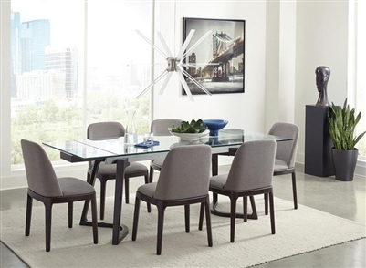 Annapolis 5 Piece Dining Set in Espresso Finish by Coaster - 105131