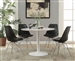 Lowry 5 Piece Dining Set in White Finish by Coaster - 105261-B