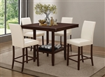 Fattori 5 Piece Counter Height Dining Set in Espresso Finish by Coaster - 105308-C