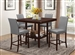 Fattori 5 Piece Counter Height Dining Set in Espresso Finish by Coaster - 105308-G
