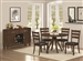 Urbana 5 Piece Dining Set in Vintage Cinnamon Finish by Coaster - 105340