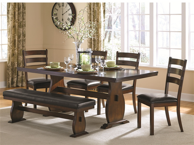 Campbell 5 Piece Dining Table Set In Vintage Cinnamon Finish By Coaster    105341