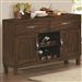 Urbana Server in Vintage Cinnamon Finish by Coaster - 105345