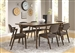 Malone 5 Piece Dining Set in Rich Walnut Finish by Coaster - 105351