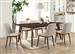 Malone 5 Piece Dining Set in Rich Walnut Finish by Coaster - 105351-CL