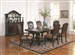 Valentina 5 Piece Dining Set in Warm Brown Finish by Coaster - 105381