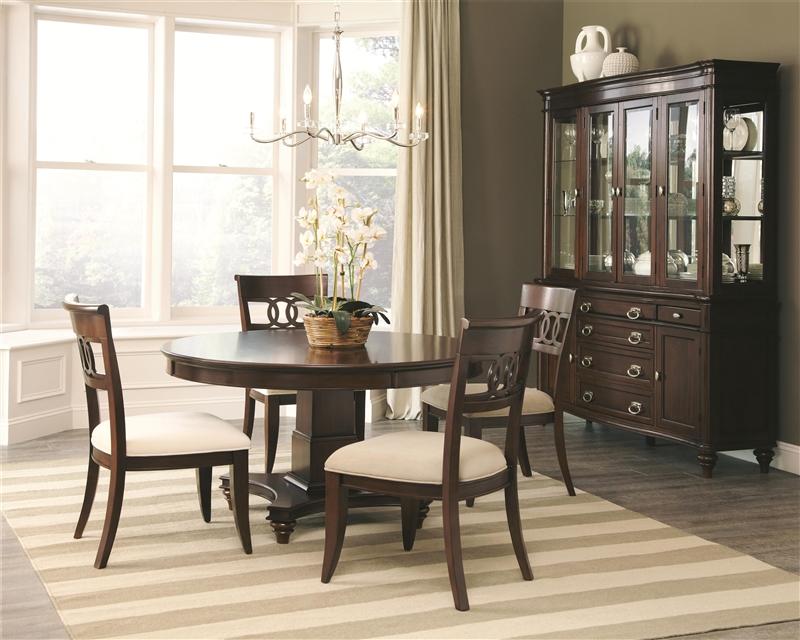 Alyssa Piece Dining Set In Dark Cognac Finish By Coaster - Alyssa dining room set