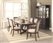 Alyssa 5 Piece Dining Set in Dark Cognac Finish by Coaster - 105441