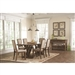 Bridgeport 5 Piece Dining Set in Weathered Acacia Finish by Coaster - 105521