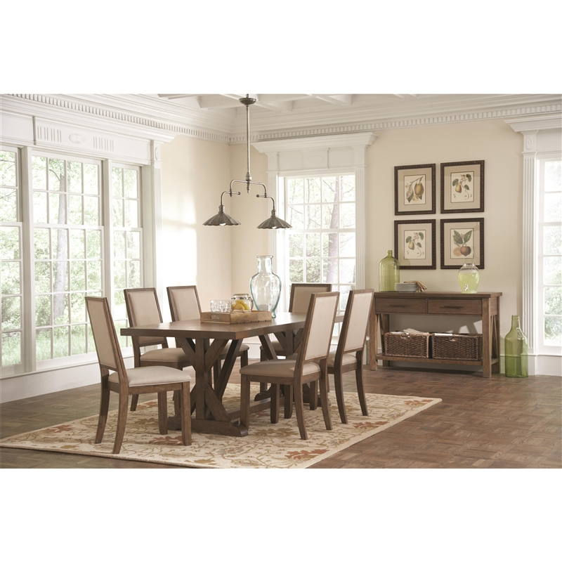 Bridgeport 5 Piece Dining Set In Weathered Acacia Finish By Coaster   105521