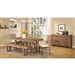 Elmwood 5 Piece Dining Set in Wire Brushed Nutmeg Finish by Coaster - 105541-5