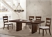 Montague 5 Piece Dining Set in Rustic Brown Finish by Coaster - 105981-5