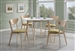 Appel 5 Piece Dining Set in White and Maple Two Tone Finish by Coaster - 106050