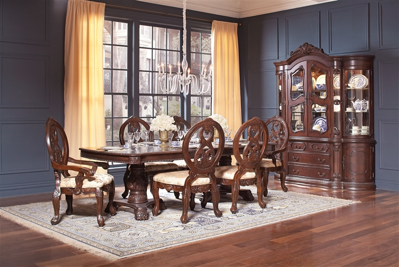 Jacques 7 Piece Traditional Dining Set In Dark Cherry Finish By Coaster