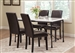 Nagel 5 Piece Faux Marble Top Dining Set by Coaster - 106131-B
