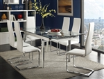 Wexford 5 Piece Dining Set in Polished Chrome Finish by Coaster - 106281-W
