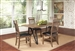 Ferguson 5 Piece Dining Set in Rustic Taupe Two Tone Finish by Coaster - 106341