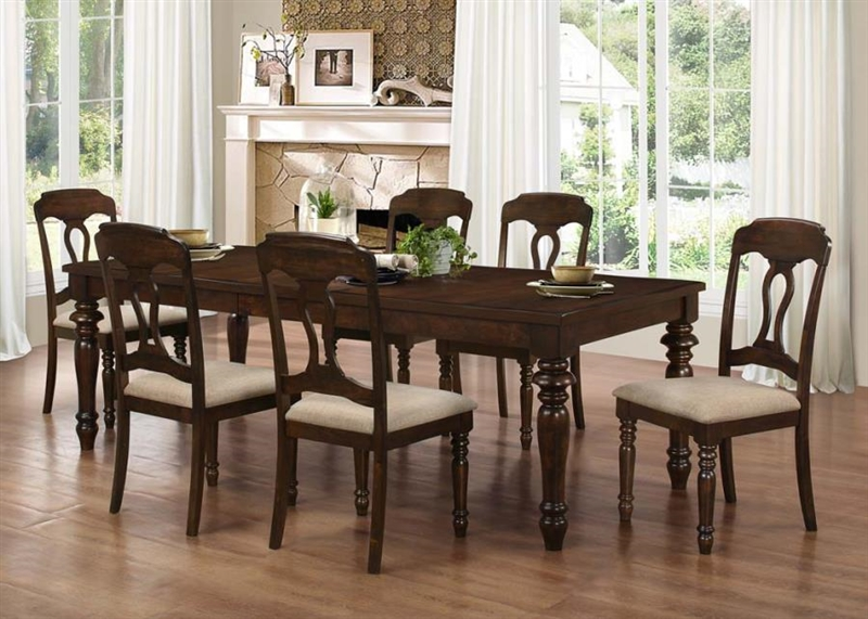 Hamilton 5 Piece Dining Set In Antique Tobacco Finish By Coaster   106351