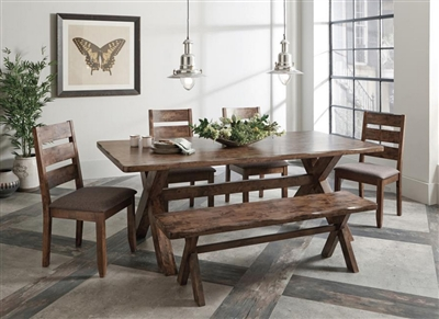 Alston 6 Piece Dining Set in Knotty Nutmeg Finish by Coaster - 106381-6