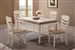 Allston 5 Piece Dining Set in Two Tone Antique White and Golden Brown Finish by Coaster - 106451