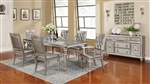 Bling Game 7 Piece Dining Set in Metallic Platinum Finish by Coaster - 106471