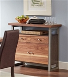 Spring Creek Server in Natural Walnut and Espresso Finish by Coaster - 106585