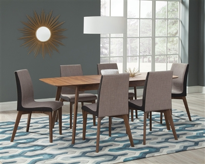 Redbridge 5 Piece Dining Set in Natural Walnut Finish by Coaster - 106591