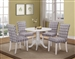 Allston 5 Piece Dining Set in White Finish by Coaster - 106641