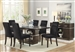 Lincoln 5 Piece Dining Set in Dark Brown Finish by Coaster - 106891