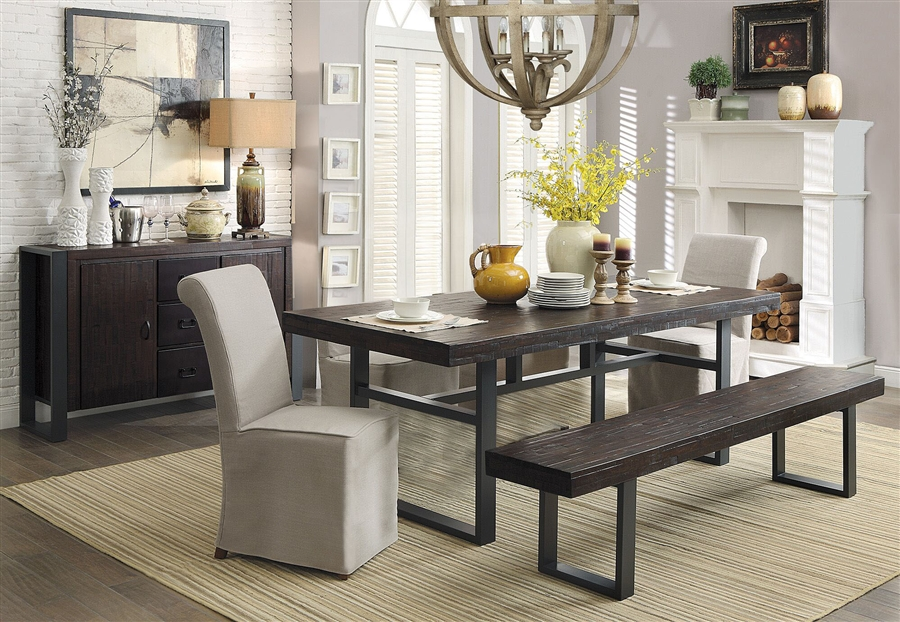 Keller 3 Piece Dining Set In Rustic Dark Brown Finish By Coaster   106941 3