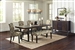 Keller 5 Piece Dining Set in Rustic Dark Brown Finish by Coaster - 106941-F