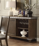 Beckett Server in Dark Oak Finish by Coaster - 107015