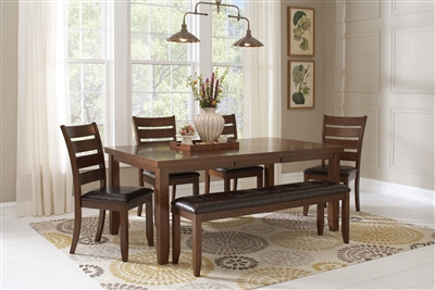 Maxwell 5 Piece Dining Set in Golden Brown Finish by Coaster - 107031