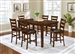 Maxwell 5 Piece Counter Height Dining Set in Golden Brown Finish by Coaster - 107038