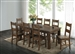 Coleman 5 Piece Dining Set in Rustic Golden Brown Finish by Coaster - 107041