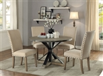 Tobin 5 Piece Dining Set in Driftwood Finish by Coaster - 107100