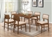 Garcetti 5 Piece Dining Set in Walnut Finish by Coaster - 107251
