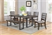 Murphy 5 Piece Dining Set in Wire Brushed Finish by Coaster - 107301