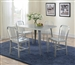 Lipscomb 5 Piece Dining Set in Aluminum Finish by Coaster - 107371