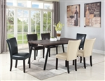 Jefferson 5 Piece Dining Set in Weathered Grey Finish by Coaster - 107581