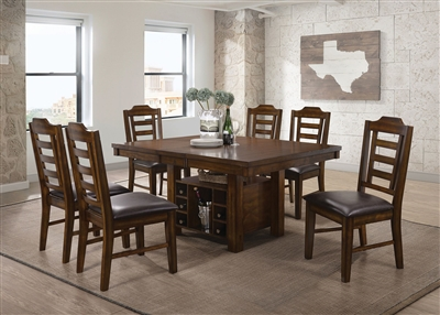 Bathurst 5 Piece Dining Set in Dark Ash Wood Finish by Coaster - 107631