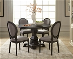 Dayton 5 Piece Dining Set in Antique Black Finish by Scott Living - 107650