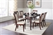 Cornett 5 Piece Dining Set in Dark Brown Finish by Coaster - 107711