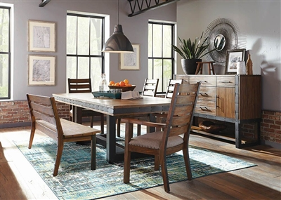 Atwater 6 Piece Dining Set in Vintage Bourbon Finish by Scott Living - 107721-06A