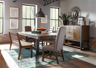 Atwater 7 Piece Dining Set in Vintage Bourbon Finish by Scott Living - 107721-7