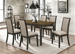 Clarksville 5 Piece Dining Set in Burned Amber and Rubbed Charcoal Finish by Coaster - 107821